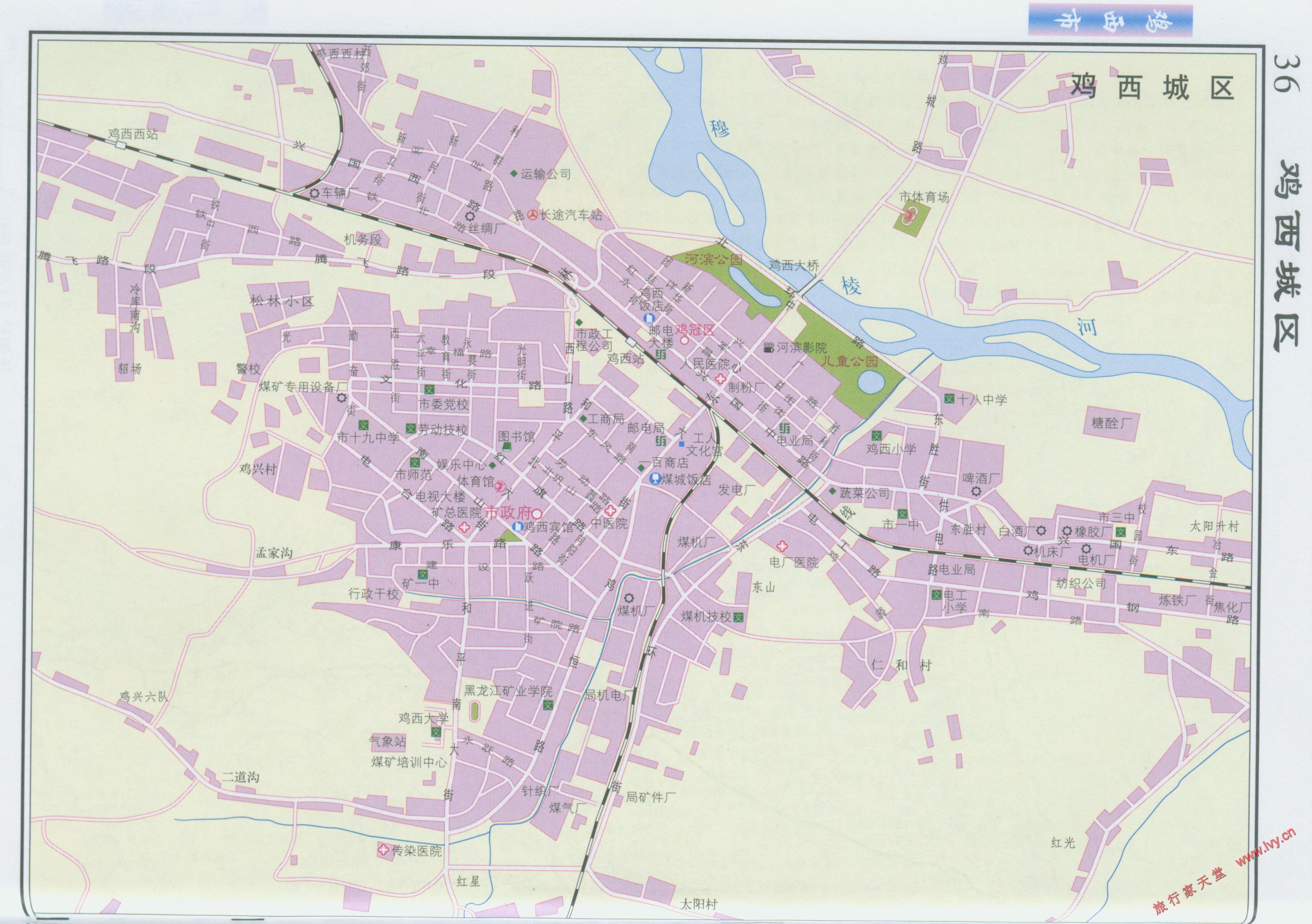 鸡西市城区地图