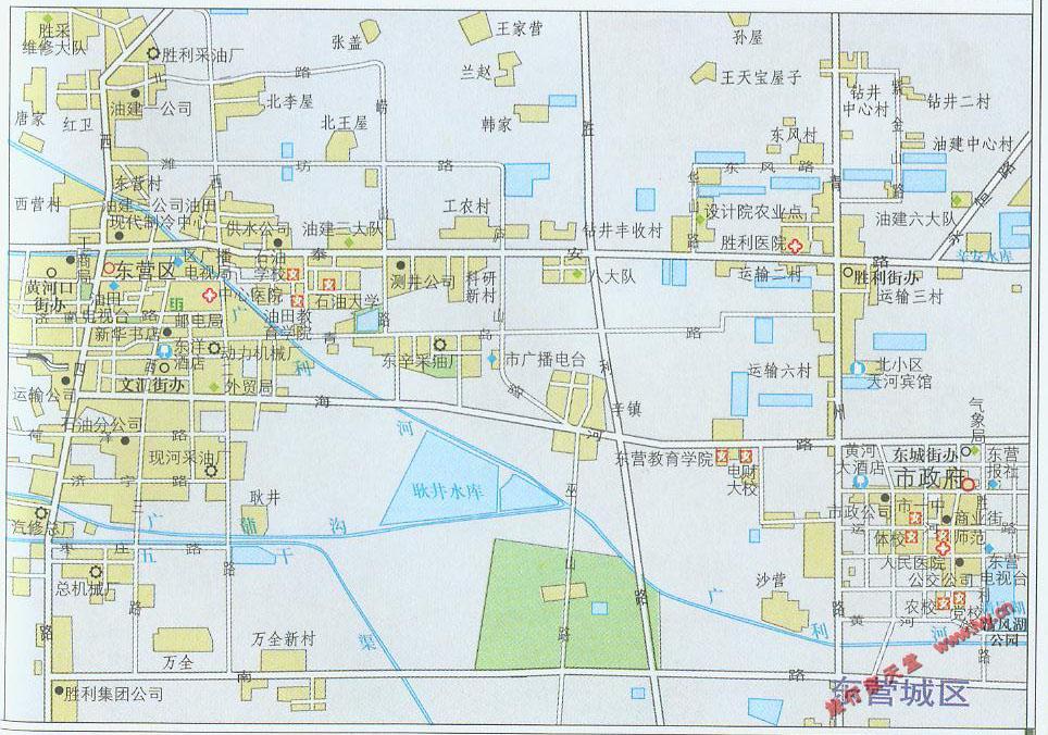 东营市城区地图